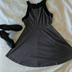 Fit and Flare Grey Dress